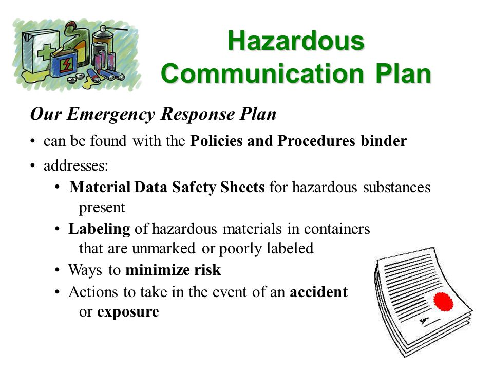 Material Safety Data Sheets (MSDS) MSDS Sheets most often provided by the manufacturer of chemicals summarize the hazards, handling, and emergency care in the event of accidental ingestion of or contact with a hazardous substance