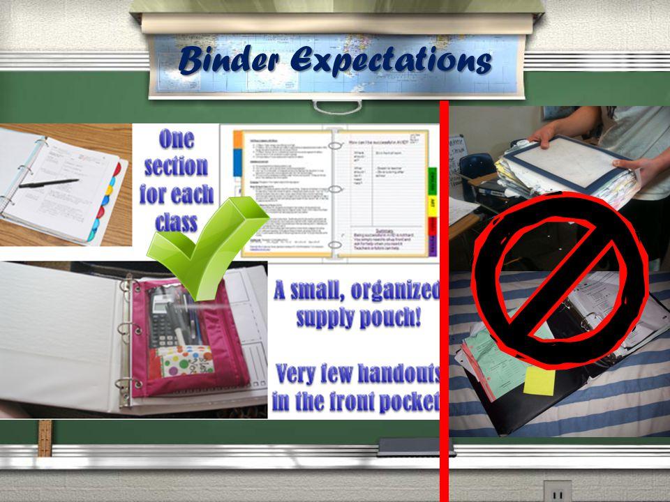 We will do Binder Checks this year.
