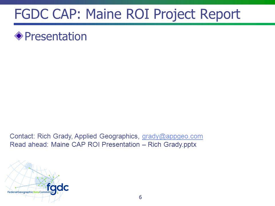 FGDC Standards Update – November 2012 FGDC Standards Activities 2012 CAP Standards Projects INCITS L1/U.S.