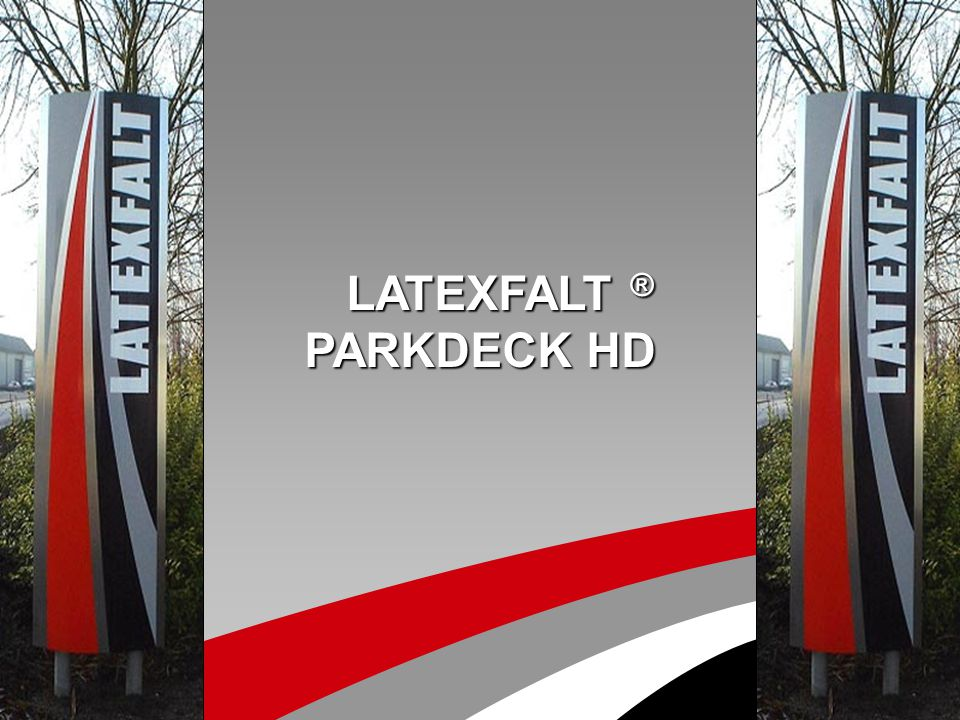 Latexfalt Parkdeck HD Multi-layer binder aggregate system with glass fibre felt interlayer for surfaces with heavy traffic
