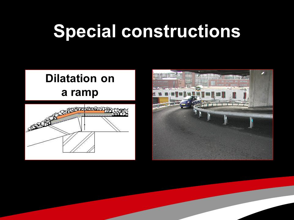 Special constructions Dilatation on a ramp