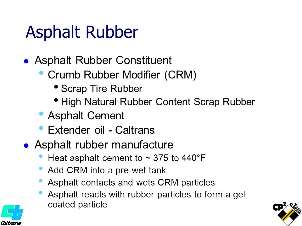 Asphalt Rubber Asphalt Rubber Constituent Crumb Rubber Modifier (CRM) Scrap Tire Rubber High Natural Rubber Content Scrap Rubber Asphalt Cement Extend