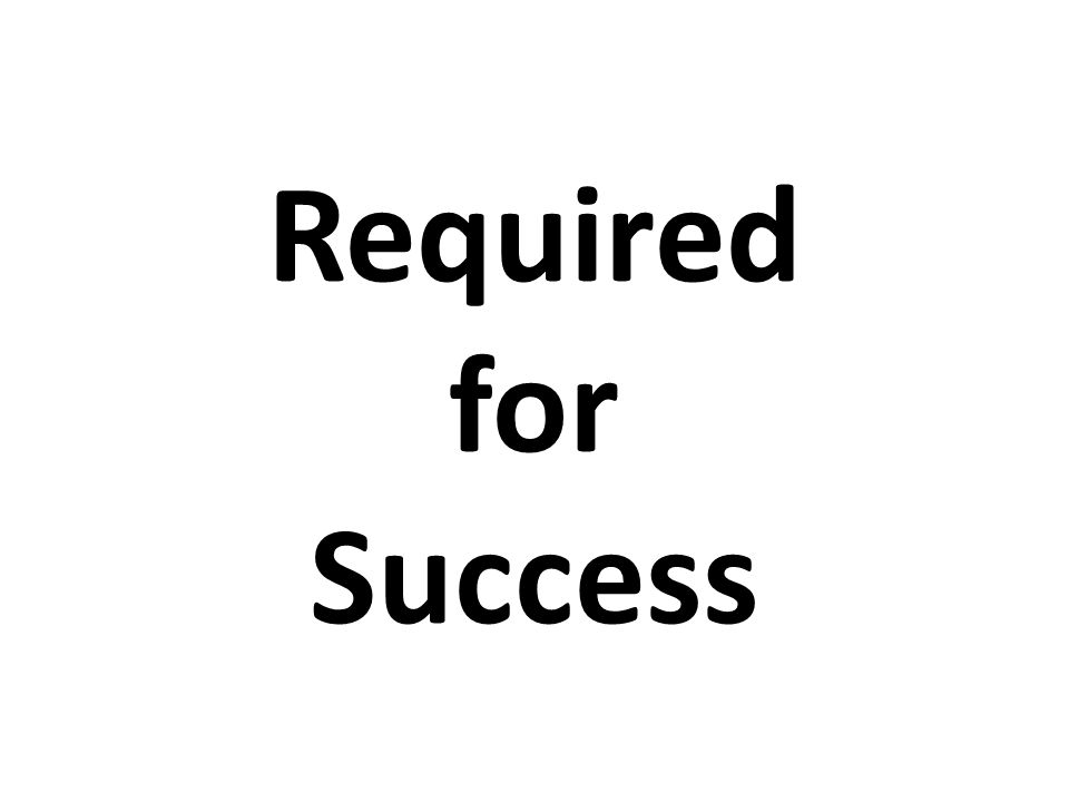 Required for Success