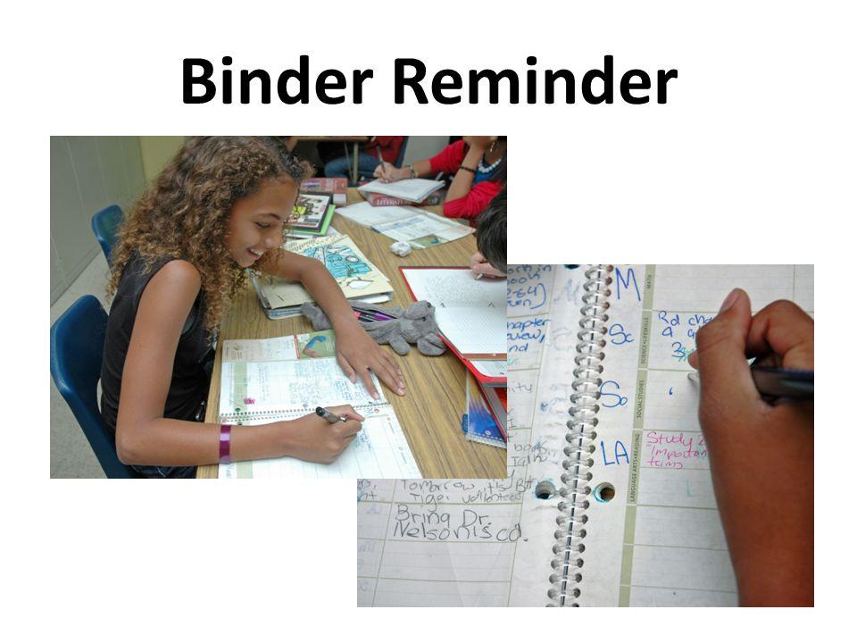 Binder Reminder
