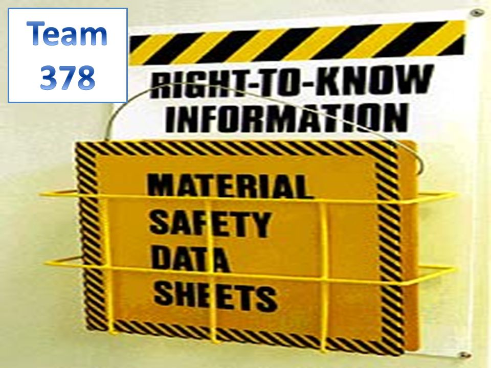 Material Safety Data Sheets They are sheets that contain data for hazardous materials.