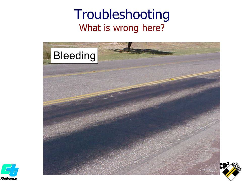 Troubleshooting What is wrong here? Bleeding