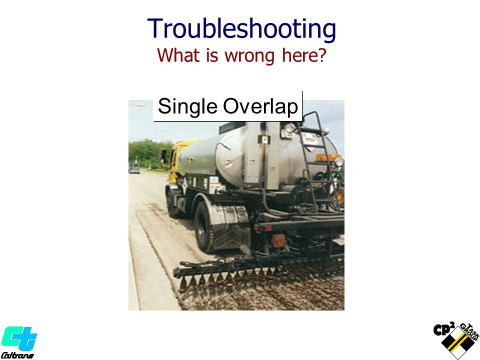 Troubleshooting What is wrong here? Single Overlap