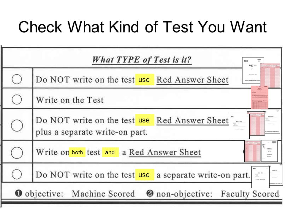 Check What Kind of Test You Want use bothand use