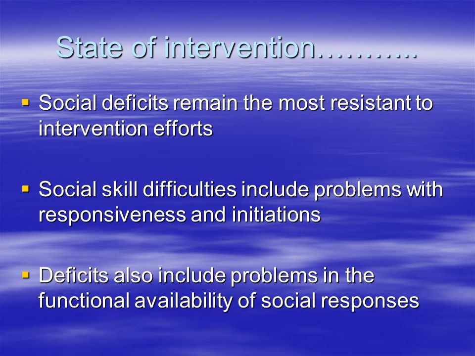 State of intervention………..