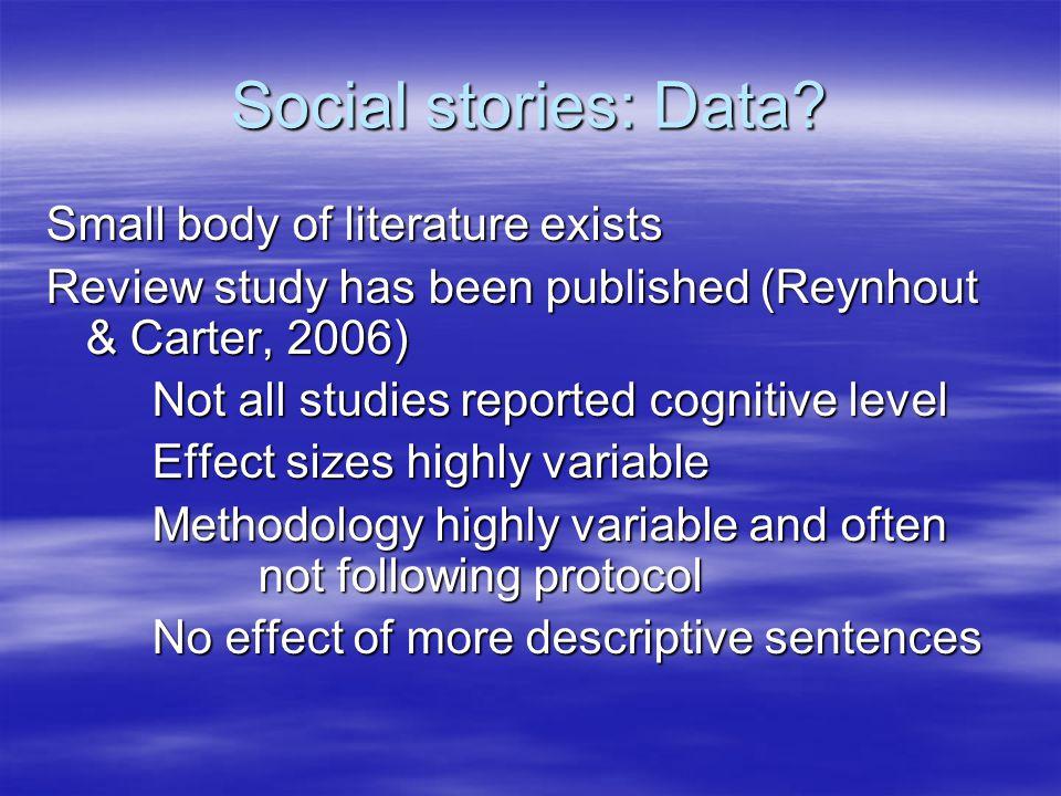 Social stories: Data.