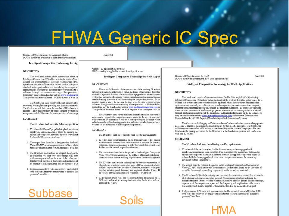 FHWA Generic IC Spec Subbase Soils HMA