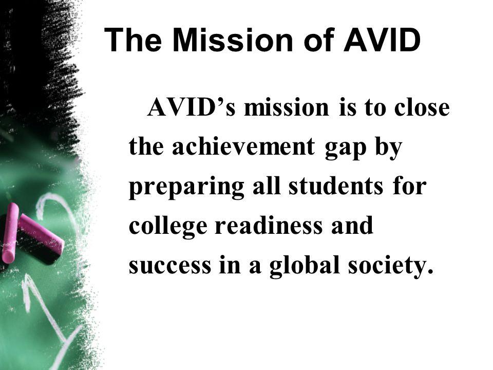 The AVID Program Welcome to the Samuel Jackman AVID Family!