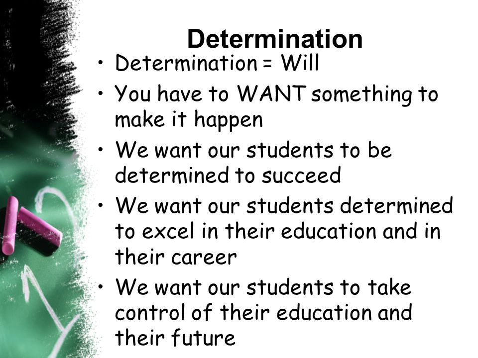 Via Individual Accountability –STUDENTS are accountable for their actions Responsibility –STUDENTS are responsible for their future and their decision