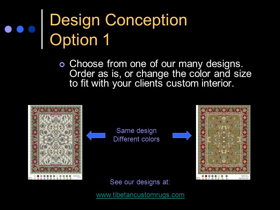 Design Conception Option 1 Choose from one of our many designs.
