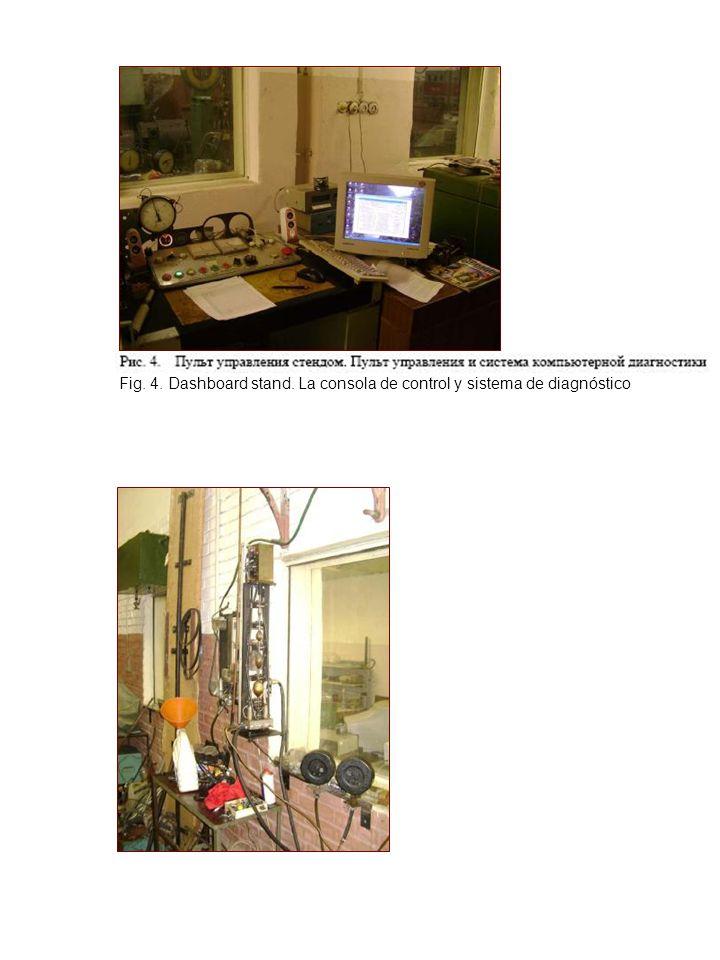 Fig. 4. Dashboard stand. La consola de control y sistema de diagnóstico