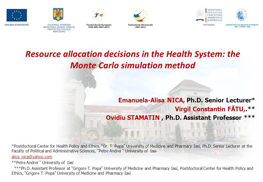 Emanuela-Alisa NICA, Ph.D.Senior Lecturer* Virgil Constantin FĂTU,.** Ovidiu STAMATIN, Ph.D.