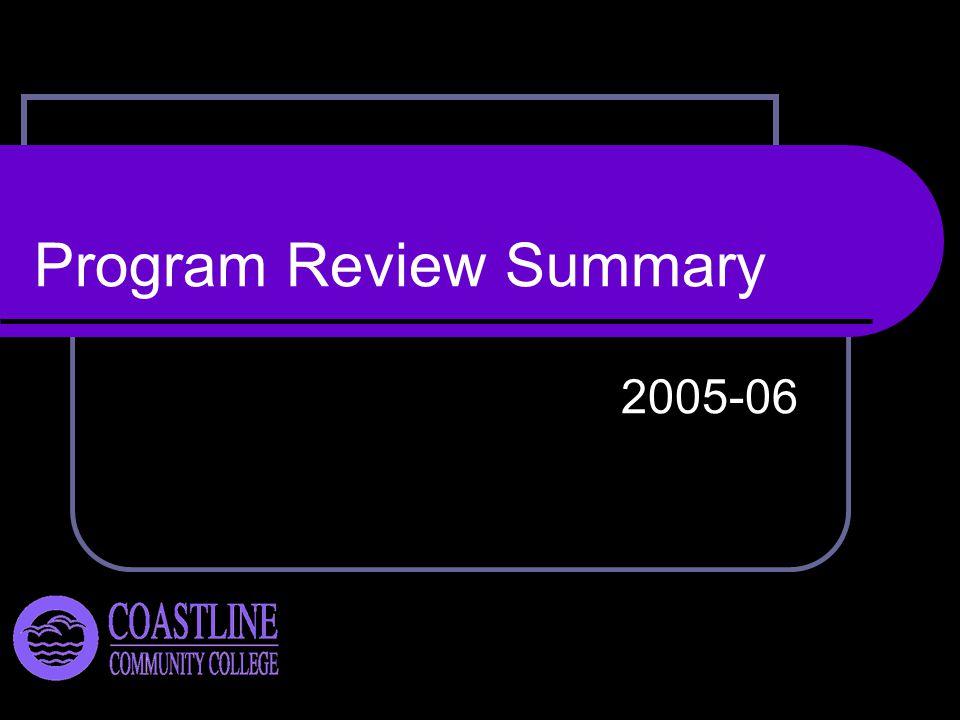 Program Review Summary 2005-06