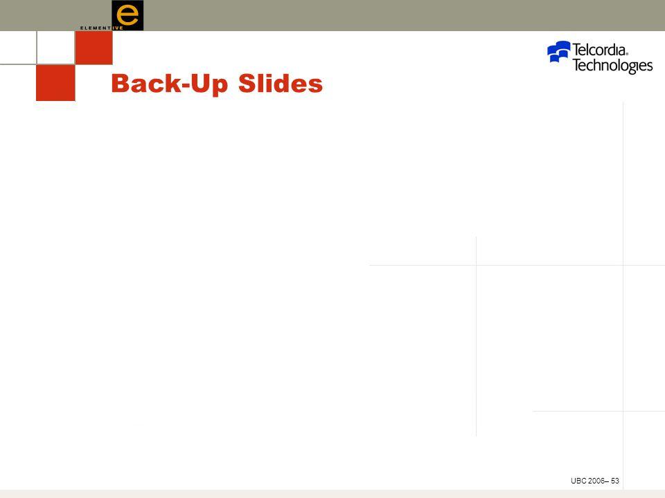 UBC 2006– 53 Back-Up Slides