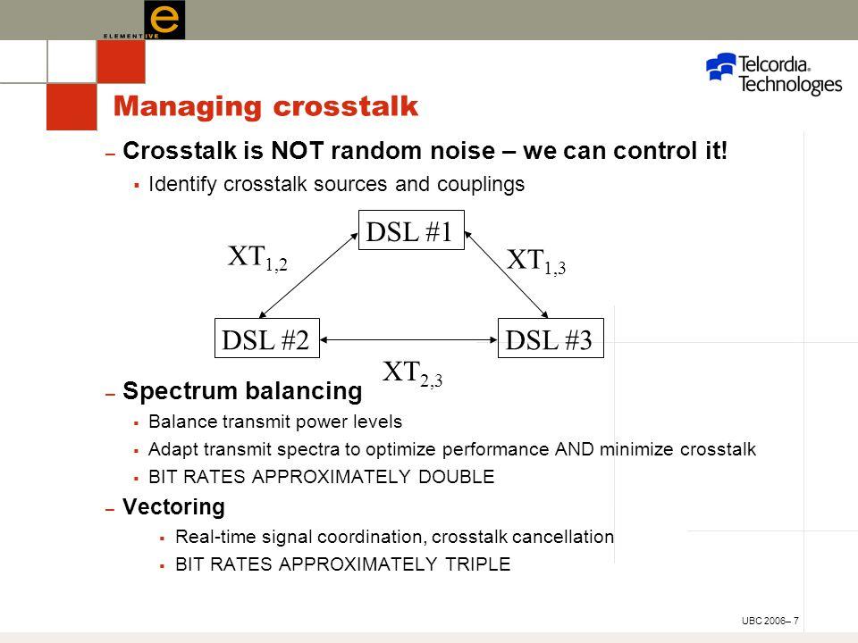 UBC 2006– 7 – Crosstalk is NOT random noise – we can control it.
