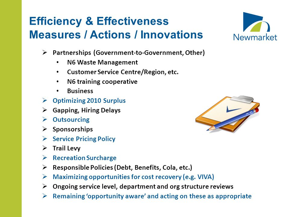  Partnerships (Government-to-Government, Other) N6 Waste Management Customer Service Centre/Region, etc.