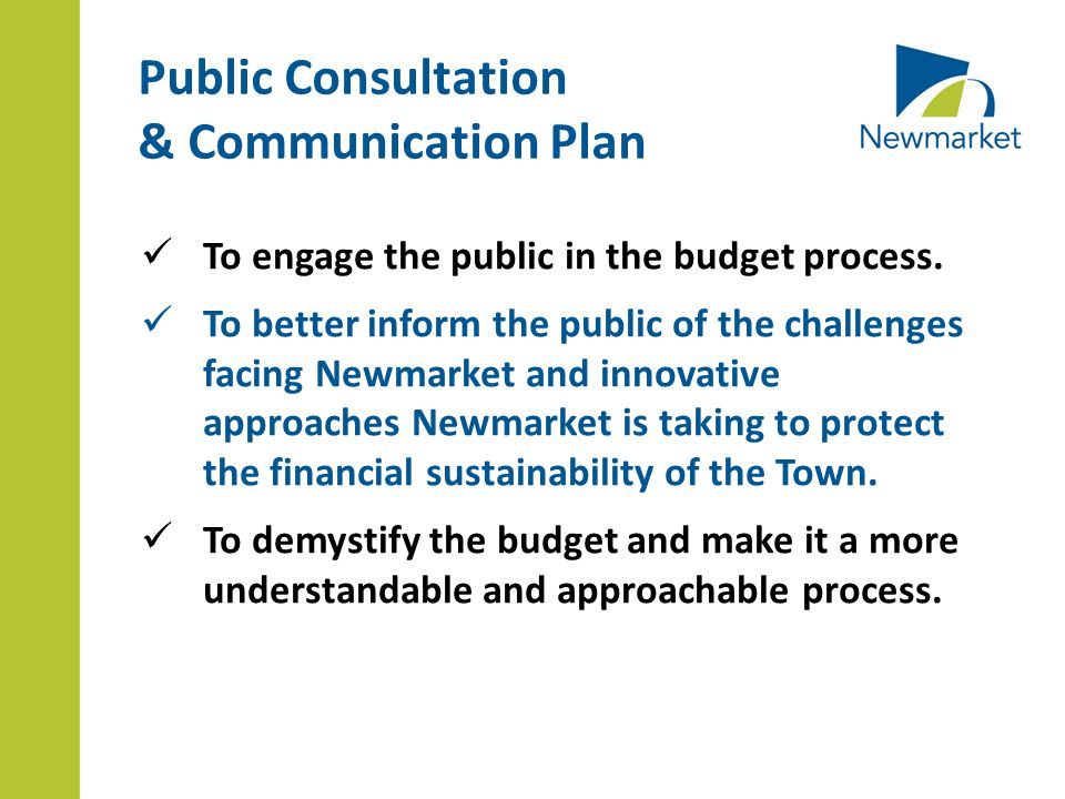 To engage the public in the budget process.