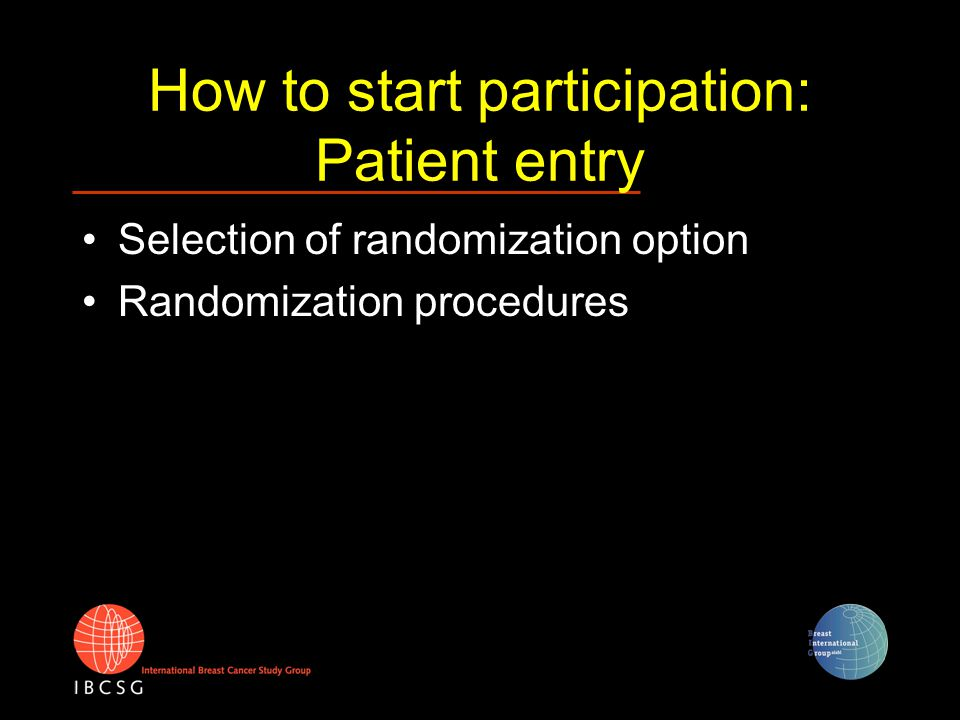 Randomization options (1) Option 1: CASA-nil PLD versus no adjuvant therapy (nil) Option 2: CASA-CM PLD versus low-dose, metronomic cyclophosphamide + methotrexate (CM)