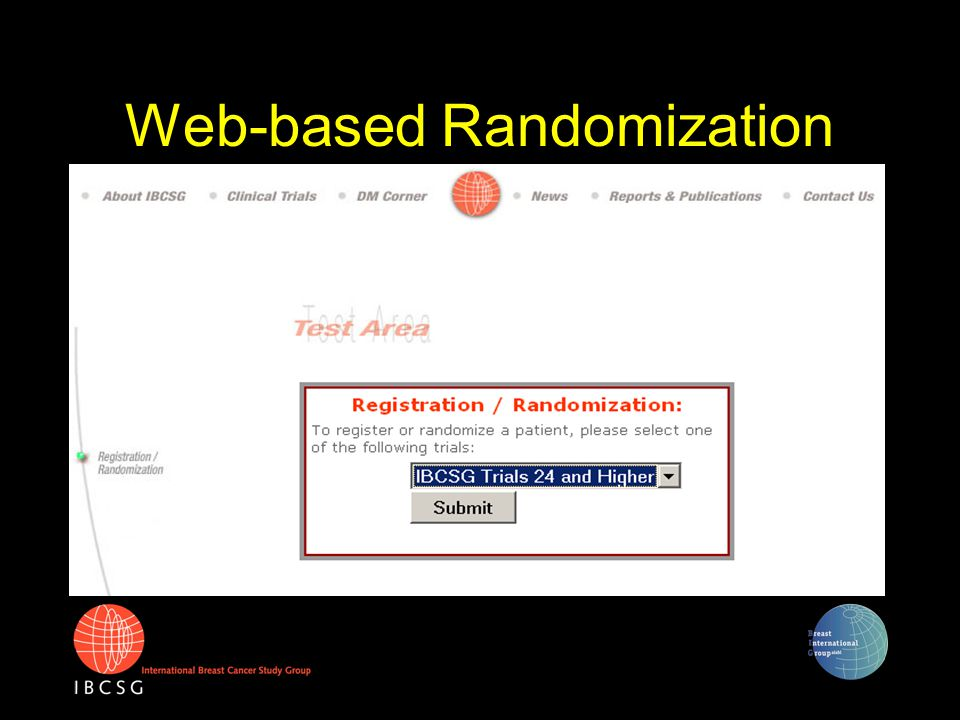 Web-based Randomization