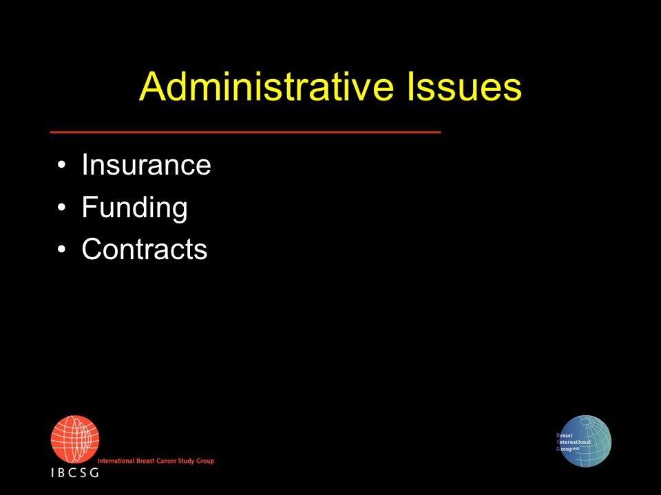 Administrative Issues Insurance Funding Contracts