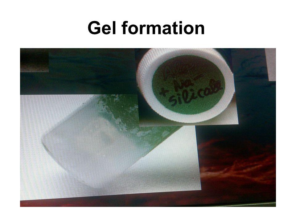Gel formation