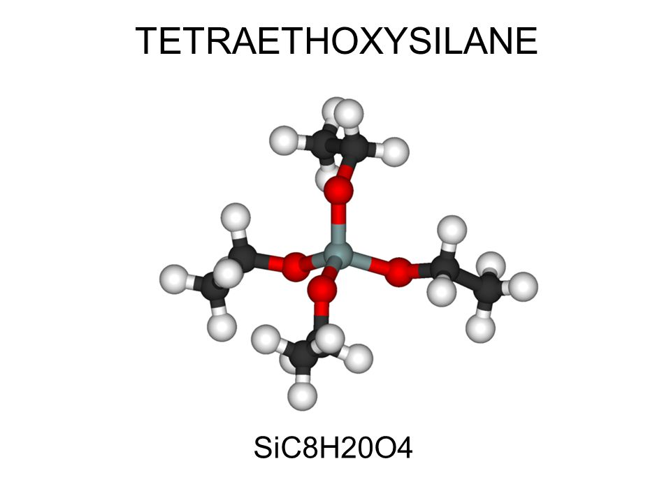 Tetraethyl orthosilicate Is the chemical compound with the formula Si(OC2H5)4.