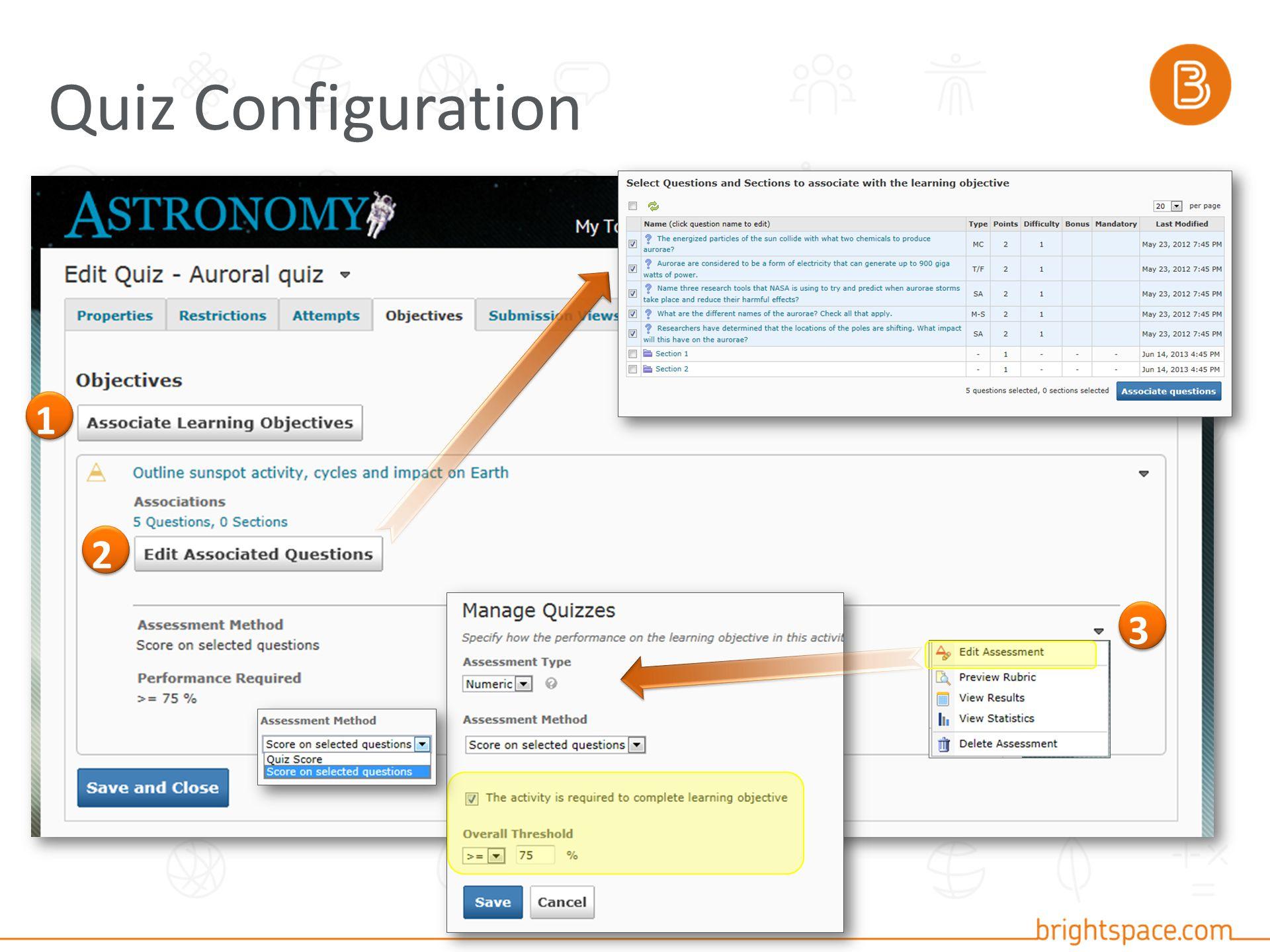 Quiz Configuration 1 3 2
