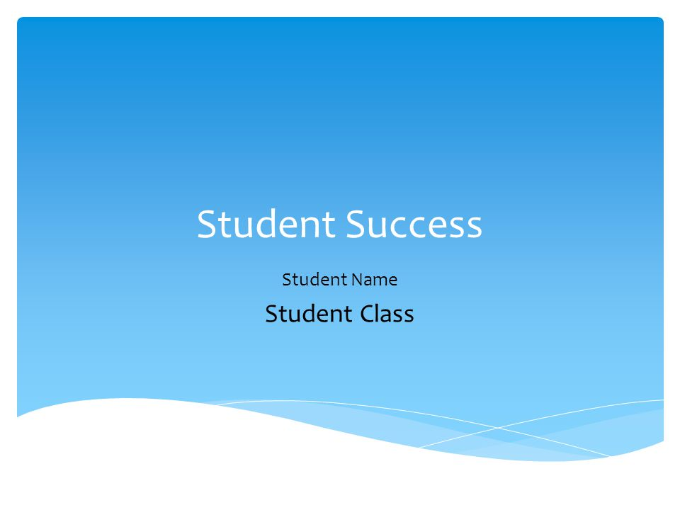 Student Success Student Name Student Class
