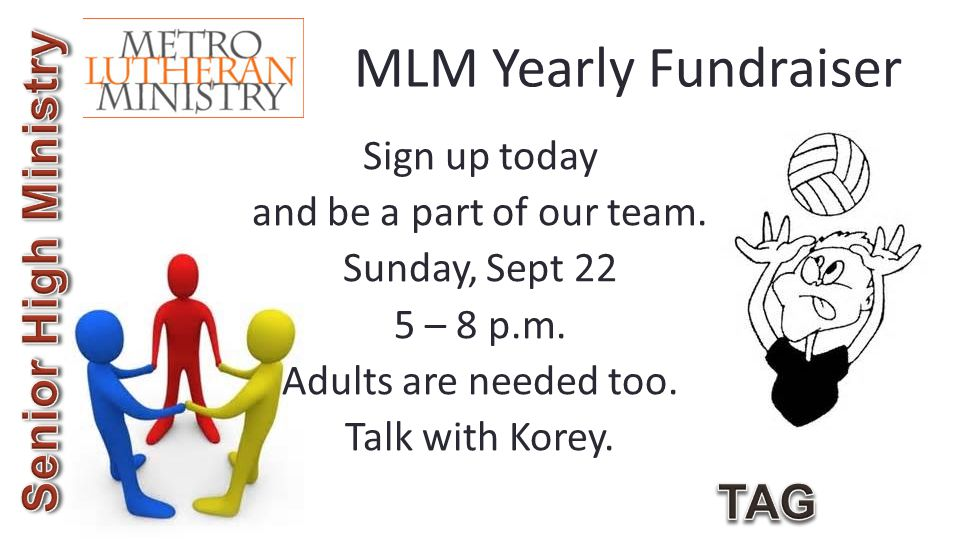 MLM Yearly Fundraiser Sign up today and be a part of our team.