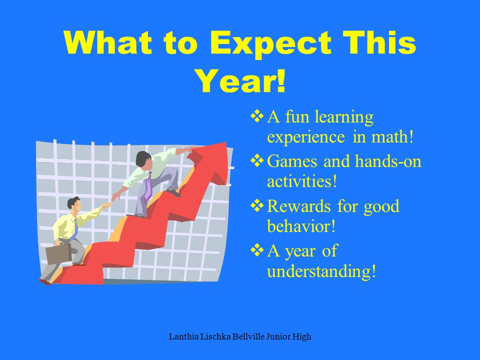 What to Expect This Year.  A fun learning experience in math.