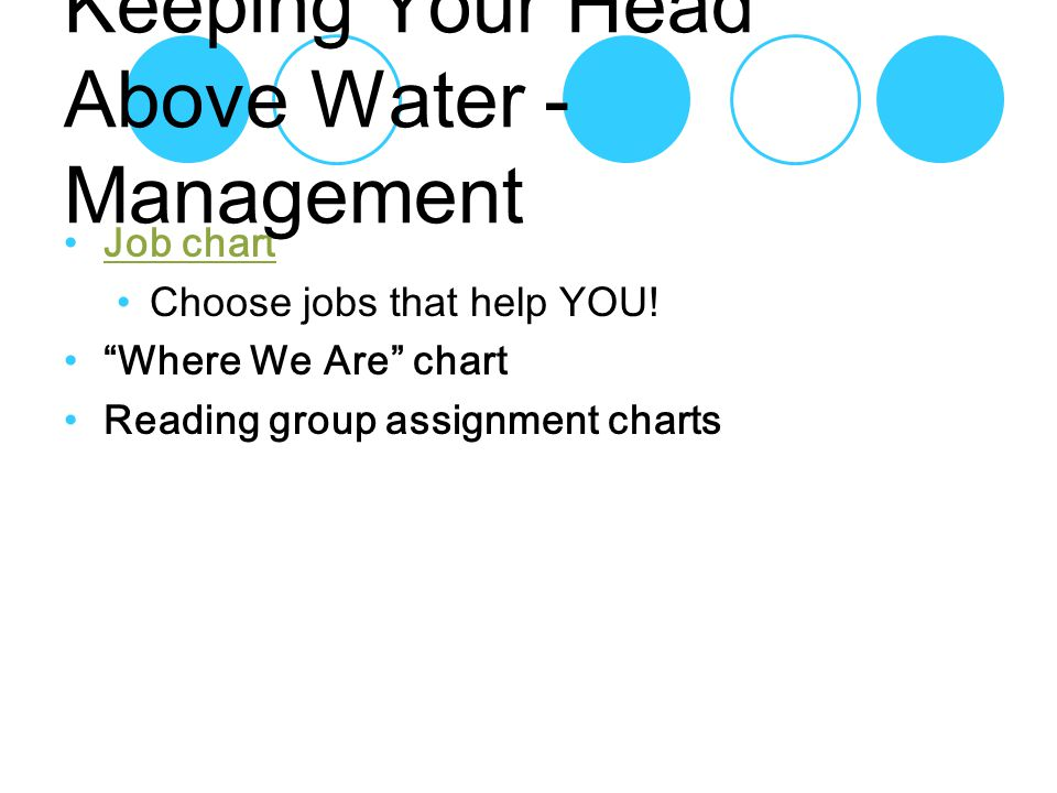 Job chart Choose jobs that help YOU.