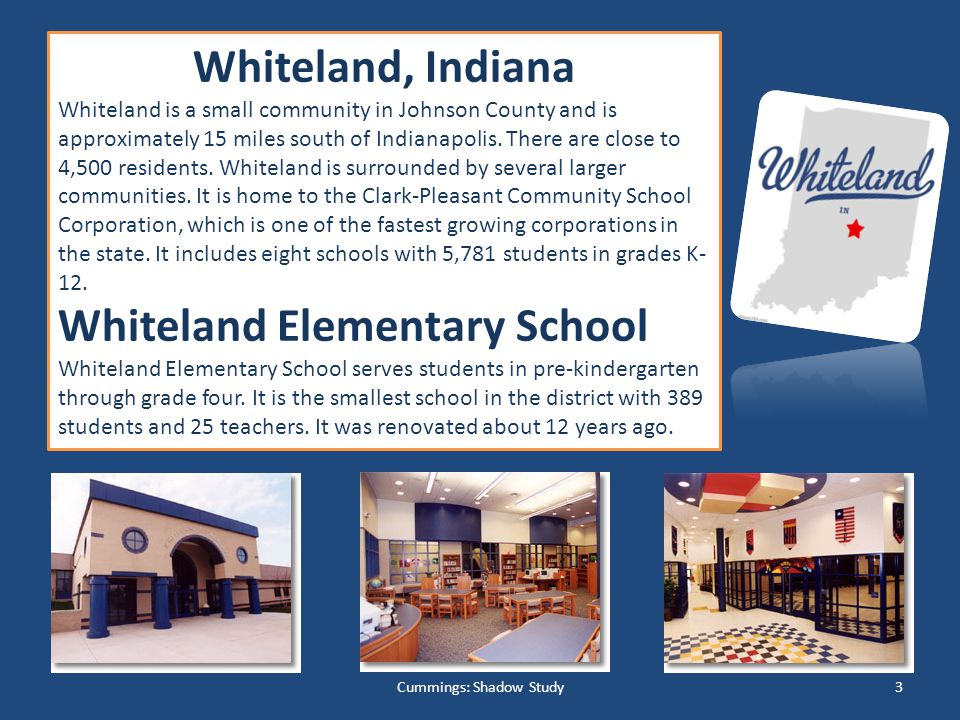 Whiteland, Indiana Whiteland is a small community in Johnson County and is approximately 15 miles south of Indianapolis.