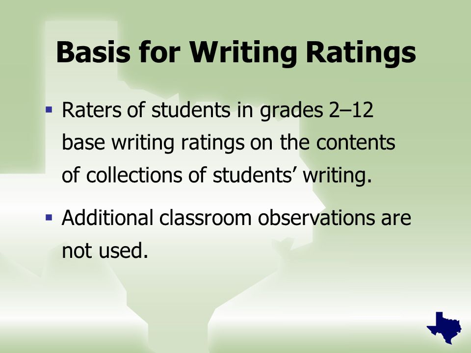 Goal in Assembling Writing Collections To make sure the collections portray the students' overall English language proficiency