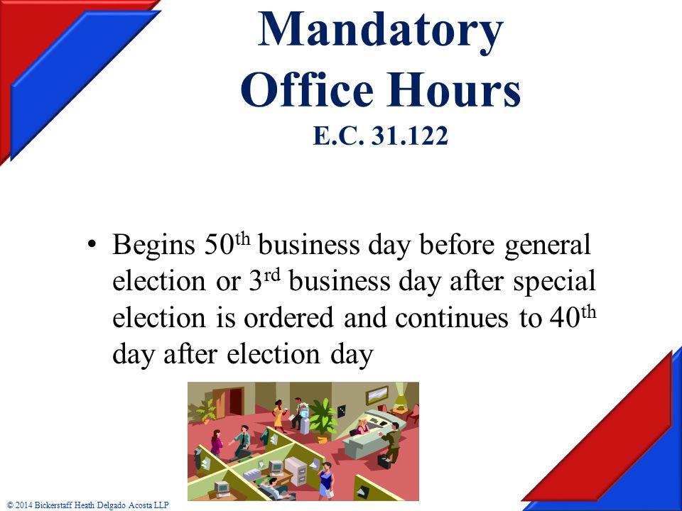 Mandatory Office Hours E.C.