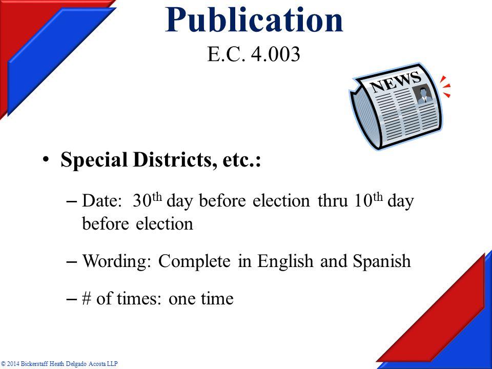 Publication E.C.