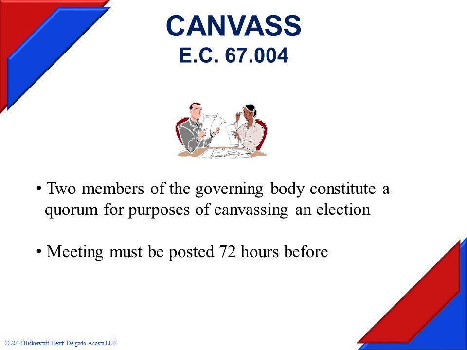 CANVASS E.C.