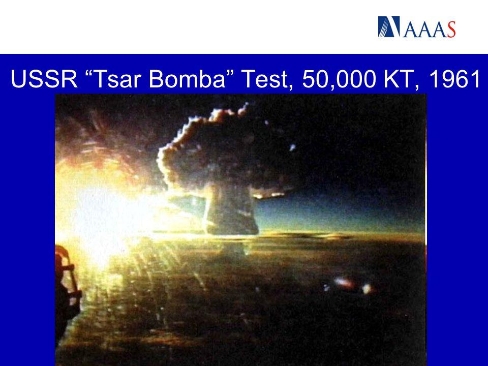 "USSR ""Tsar Bomba"" Test, 50,000 KT, 1961"