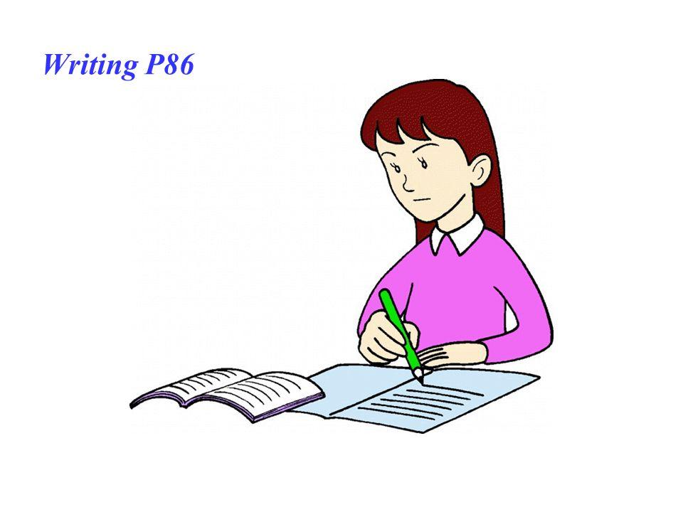 Writing P86