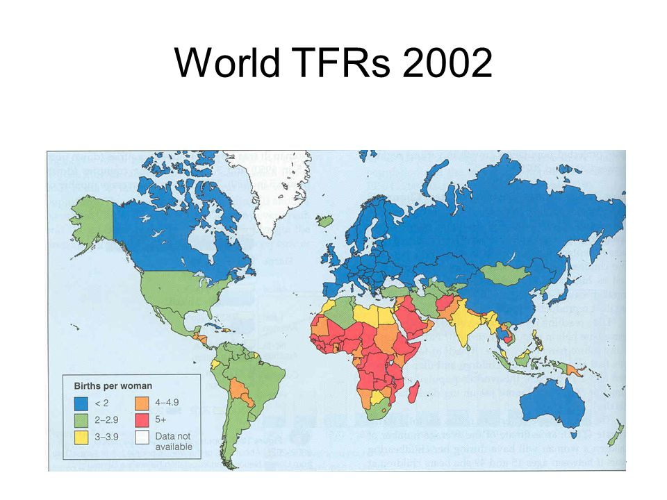 27 World TFRs 2002
