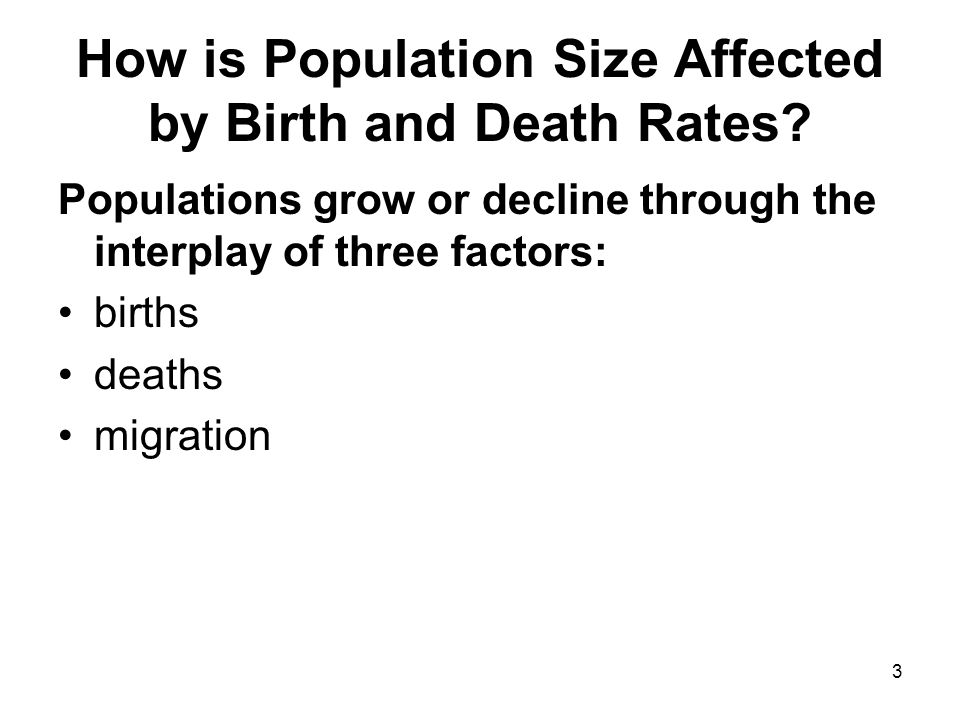 3 How is Population Size Affected by Birth and Death Rates.