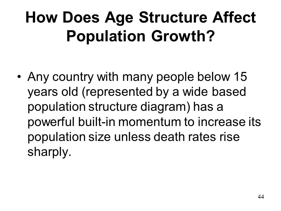 44 How Does Age Structure Affect Population Growth.