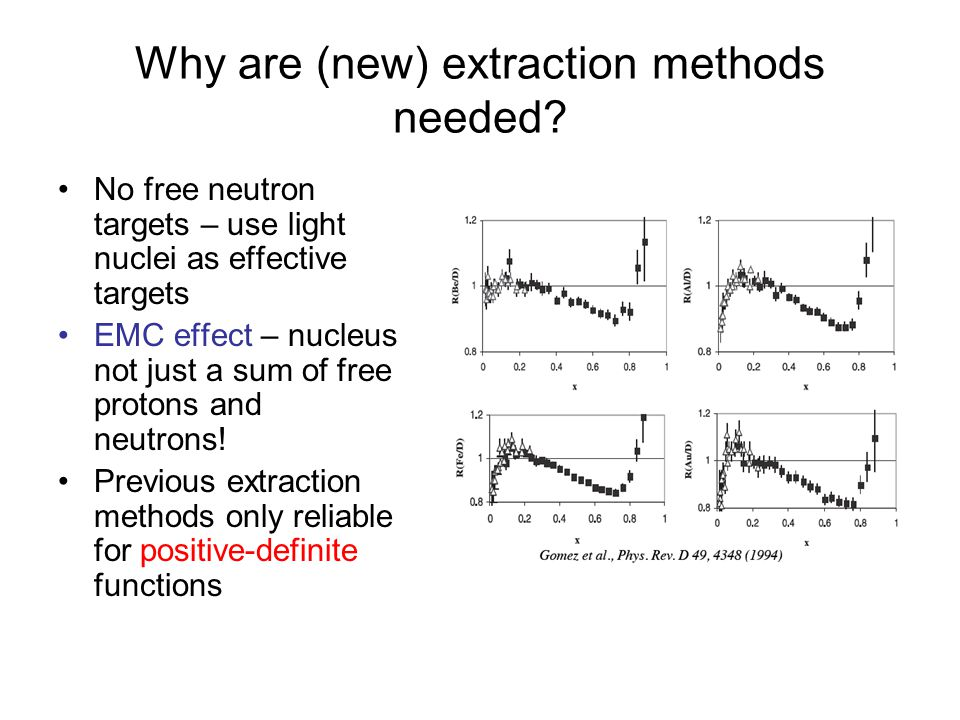 Why are (new) extraction methods needed.