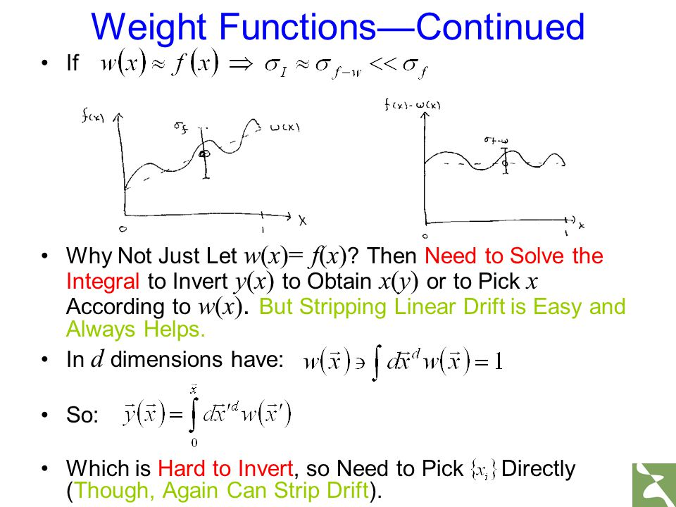 If Why Not Just Let w(x)= f(x) ? Then Need to Solve the Integral to Invert y(x) to Obtain x(y) or to Pick x According to w(x). But Stripping Linear Dr