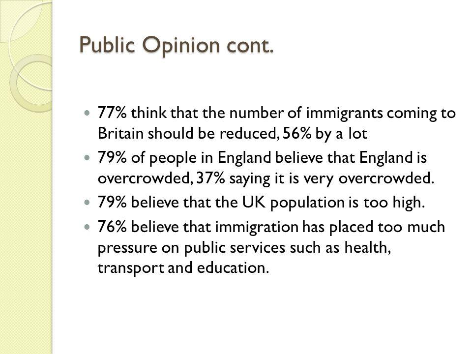 Public Opinion cont.