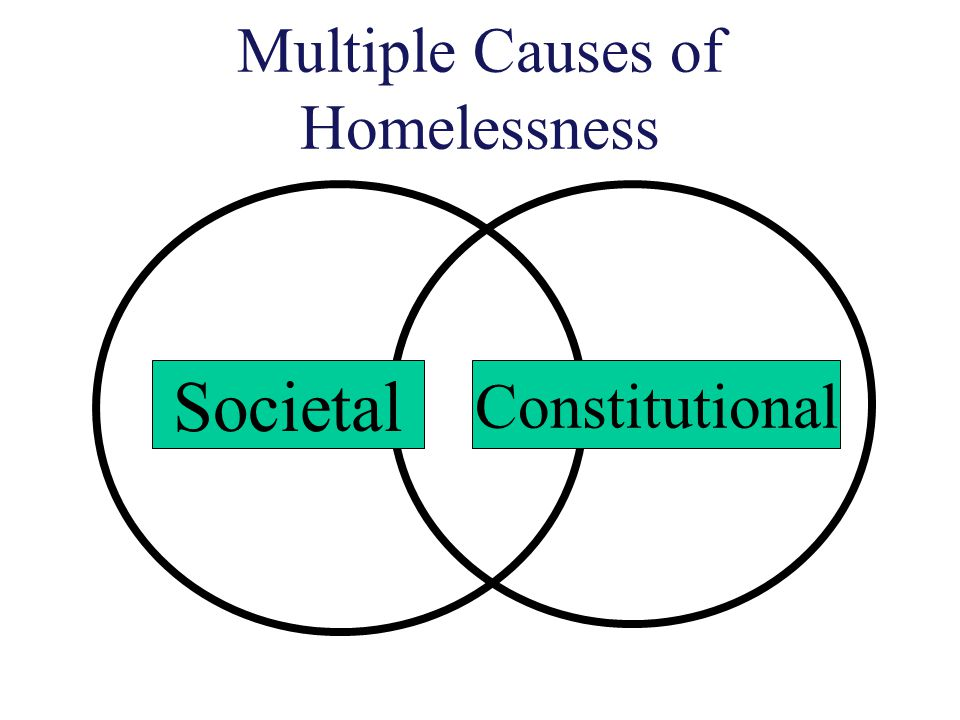 Five distinct periods of homelessness Colonial Period Urbanization Industrialization The Great Depression Contemporary Period