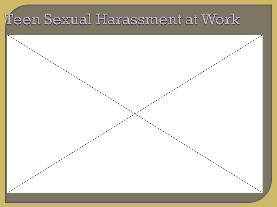 28 Teen Sexual Harassment at Work